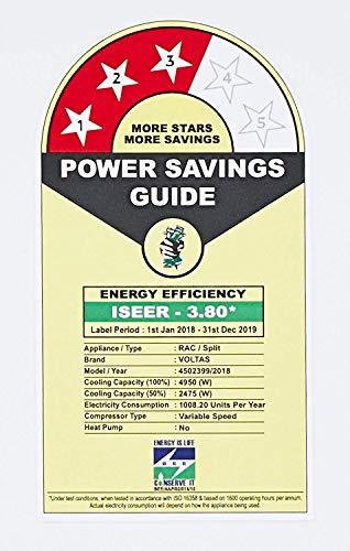 Voltas 1.4 Ton 3 Star Inverter Split AC (Copper, 173V JZJ (R32), White)