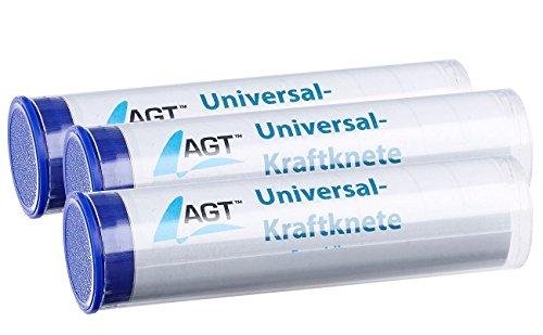 AGT Power-Knete: 3er-Set Universal-Kraftknete aus Epoxidharz;2 Komponenten-Klebetechnik (Kleber Knete)