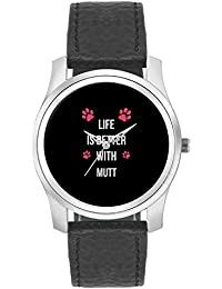 BigOwl Life Is Better With Mutt | Best Gift For Mutt Dog Lovers Fashion Watches For Girls - Awesome Gift For Daughter...