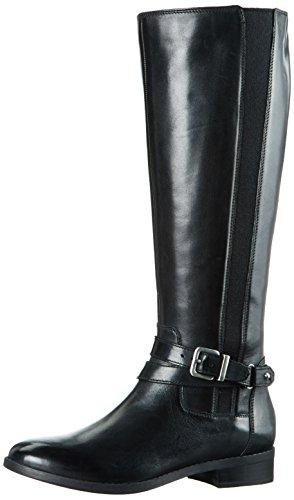 Clarks - Stivali Alti Pita Vienna Donna, colore Nero (Black Leather), taglia 39 EU