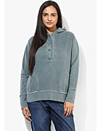 GRAIN Dark Teal Blue Regular fit Cotton Jackets for Women