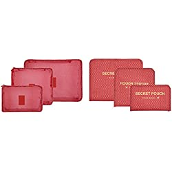 6PCS/Set Waterproof Clothes Storage Bags Packing Cube Travel Luggage Organizer Bag