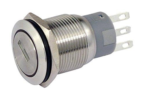 Blanko 207043 Schlüsselschalter metall 19 mm 1 x Schliesser, 1 x Öffner
