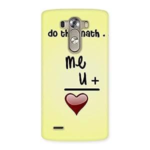 Impressive Love Maths Back Case Cover for LG G3