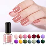 BORN PRETTY Pure Color Nail Varnish 45s Dried Odorless Water-based Water-based Nail Art Polish Peel Off Manicure DIY Design 6ml 14 Colors