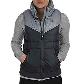 c58a2bb0fde5 Nike Womens Down Fill Padded Gilet - Grey  Amazon.co.uk  Clothing