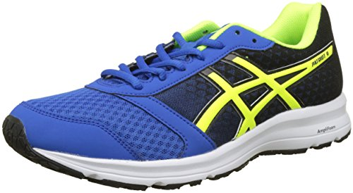 ASICS Men's Patriot 8 Victoria Blue/Safety Yellow/Black Running Shoes - 8 UK/India (42.5 EU)(9 US)(T823N.4507)