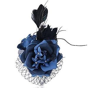 Braut Haarschmuck Kopfschmuck Brustblume Haarblume große Blumen Haarspange Damen Accessoires Perlen mit Sicherheitsnadeln edel