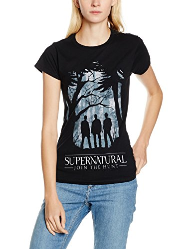 CID Supernatural-Group Outline W, T-Shirt Donna, Nero, Large