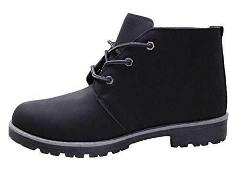 Scarpe polacchine uomo nero casual camoscio stivaletti invernali numero 41 42 43 44 45 (42, nero)