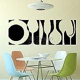 zaosan Etiqueta de la Pared Diseño artístico Vajilla Etiqueta de La Pared Decoración para el hogar DIY Cocina Interior Mural Vinilo Comedor Vinilo de Pared 51x138cm