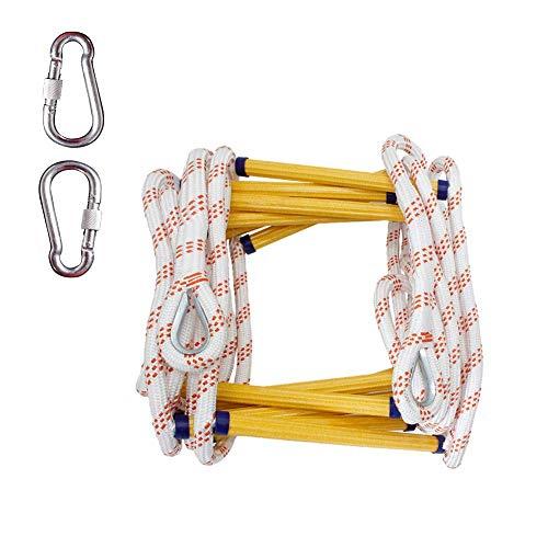 FIREDOPE Notfallleiter, Emergency Escape Ladder Family, tragbare Rettungsleiter, klein und leicht zu verstauen, Easy Escape, zweistöckige Leiter (16 Fuß)