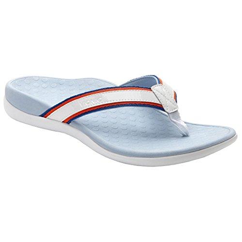 VIONIC Womens IN340 Islander Sport Light Blue Leather Sandals 38 EU