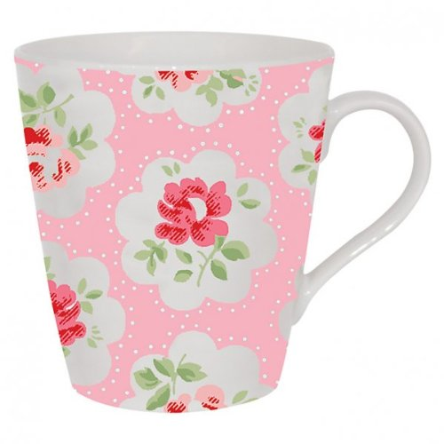 Cath Kidston 1-piece Provence Rose Stanley Shaped Fine China Mug, Pink