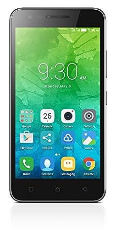 Lenovo C2 Smartphone (12,7 cm (5 Zoll), 8 GB, Android) Schwarz