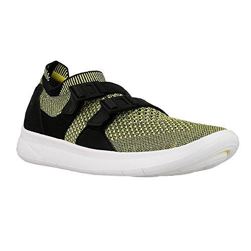 Nike - W Air Sockracer Flyknit - 896447003 - Farbe: Schwarz-Gelb - Größe: 39.0 (Gelb Flyknit Nike Damen)
