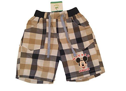 (Jungen BABY-HOSE/Kinder-Hose Mickey Mouse, GRÖSSE 68, 74, 80, 86, 92, 98, 104, 110, 116, SPIEL-HOSE kariert + Motiv-Applikation, als Freizeit-Hose oder Jogging-Hose mit Taschen Size 74)