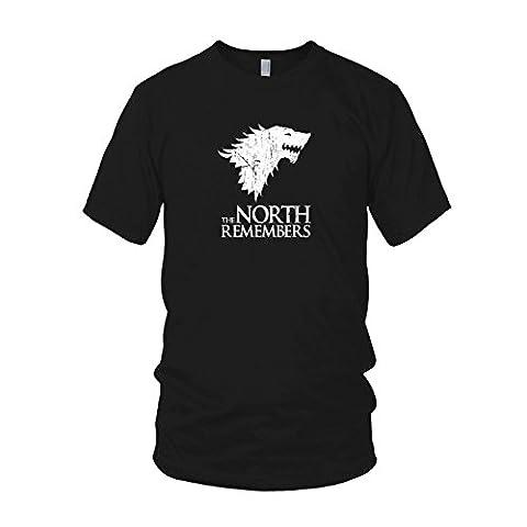 GoT: The North Remembers - Herren T-Shirt, Größe: L, Farbe: schwarz