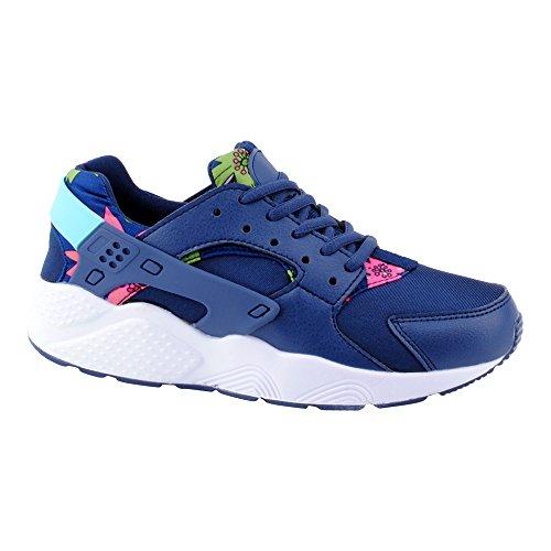 Herren Damen Sneaker Sportschuhe Lauf Freizeit Runners Fitness Low Schuhe Dunkelblau-W