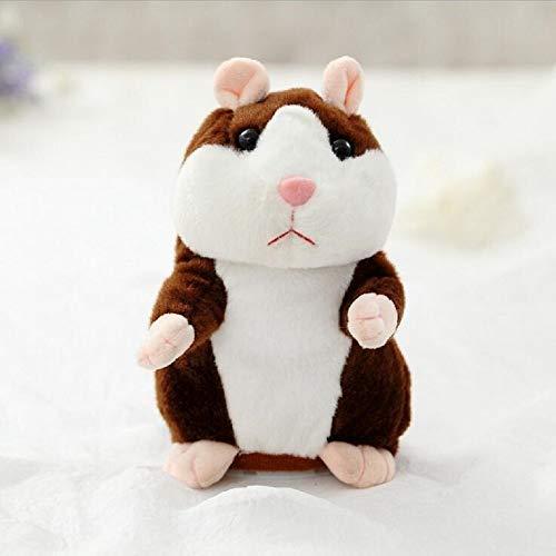 YOUHA 2019 sprechende Hamster Maus Haustier Plüschtier Hot Cute Sprechen Sprechen Schallplatte Hamster Pädagogisches Spielzeug für Kinder Geschenk 15 cm Tiefbraun (Kissen Haustiere Traktor)