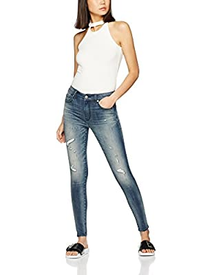 FIND Women's Distressed Skinny Jeans - low-cost UK light shop.