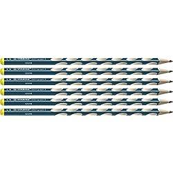 Estrecho triangular de Stabilo Easygraph–Lápiz para zurdos S en–Dureza HB, color petróleo 6er Pack