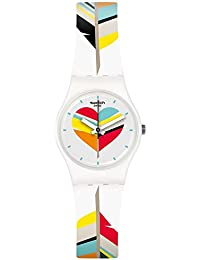 Swatch Reloj Digital de Cuarzo para Mujer con Correa de Silicona – LW151