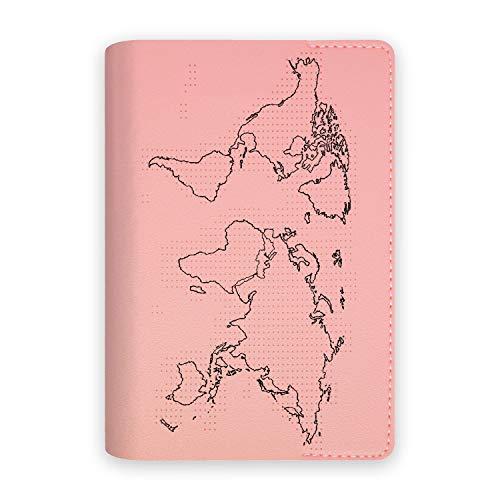 Funda Porta Pasaporte Documentos Viaje Mapa