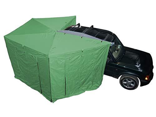 Prime Wing 270 Grad Markise 250cm grün Beifahrerseite komplett mit Seitenteilen