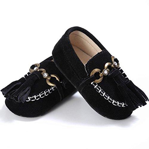 Schwarz Jamicy® Prewalker Baby Kleinkind Krippe 12~18 Schuhe Comfort Schwarz On Loafers Slip Monate Soft Niedliche 6B5Bfwvq