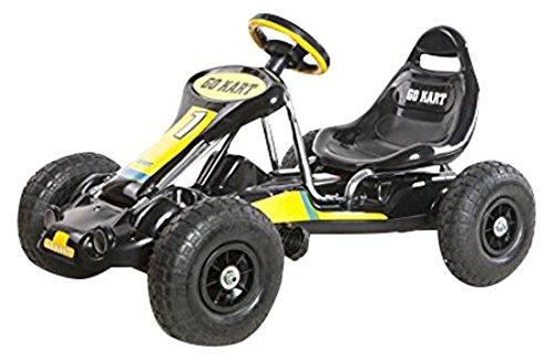 """Ricco PB9788A """"Negro Pedal Go-Kart Ride en ruedas de goma Deportes Racing Toy"""" Trike Car"""