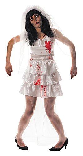 Kostüm Pro Zombie - Party Pro-86510-Kostüm Braut Zombie, Größe 38