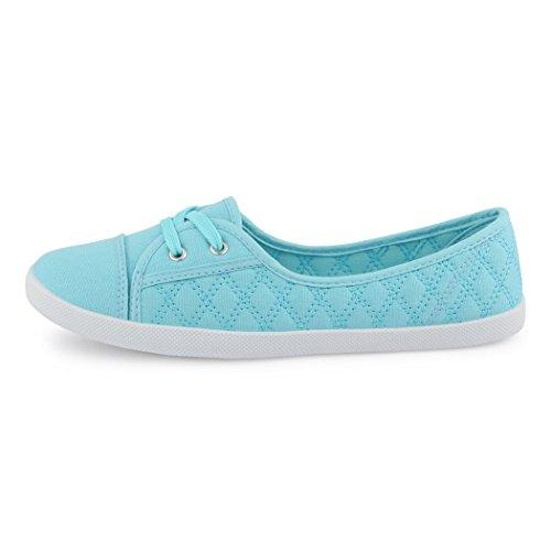 best-boots Ballerine Sneakers Sneaker scarpe da ginnastica Textil Blue gesteppt