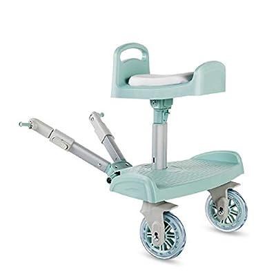 VISTANIA Cochecitos de Asiento Lateral 2-en-1 Scooter Apto para niños y niñas de Edad 2-6, Carga máxima 20KG