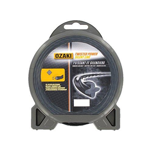 Ozaki - Hilo de nylon/cuerda de nylon, espiral, 28 m, 3 mm de diámetro
