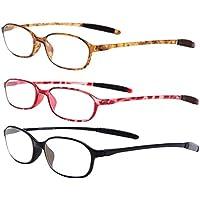 Zhuhaitf Classic Metal Readers Eyewear Comfortable Degree - Choose Your Magnificatio Half-eye Reading Glasses / Occhiali da Vista Lettura Presbiopia with Case I2gxVBDMB