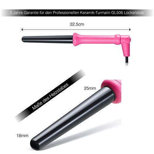 Golden Curl Lockenstab Hair Curler GL506 – langanhaltende Locken für alle Haartypen – unglaubliche 5-Jahres Garantie (18mm – 25mm, Pink) - 6