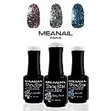 UV Nagellack Shellac Set Meanail® • Gellack Set Paris • UV Gel UV Nagellack Sets Maniküre + Pediküre • Nageldesign Nailart • Vegan&Cruelty free