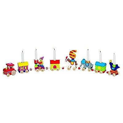 Goki 60919 - Dekoration - Geburtstagszug Zirkuswelt von Goki