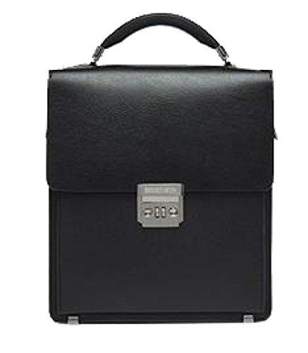 Yy.f Bloccare Bag Borsa A Tracolla Del Messaggero Degli Uomini Diagonale Uomo Borsa Di Pelle Borsa Di Cuoio Puro Degli Uomini Cartella Black