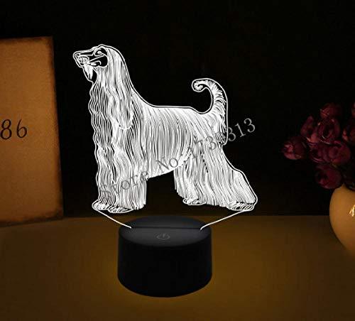 LULO 3D Visual Illusion Lampe Bulldog Pudel Jack Russell Terrier Rottweiler Dobermann LED Nachtlicht Dog Style Schreibtisch Light-E -