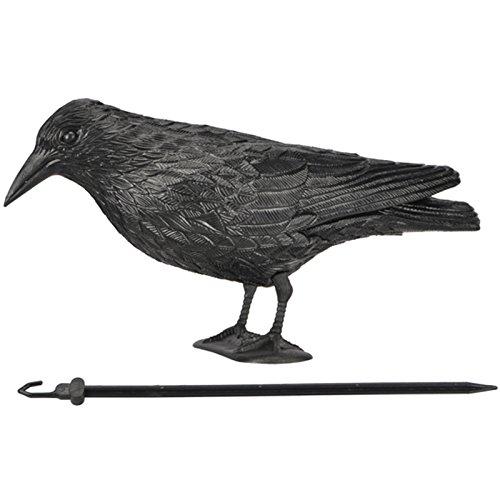 Siehe Beschreibung Gartendekoration Rabe 40 cm aus Kunststoff als Tauben- oder Vogelschreck • Taubenschreck Krähe Gartenfigur Taubenabwehr