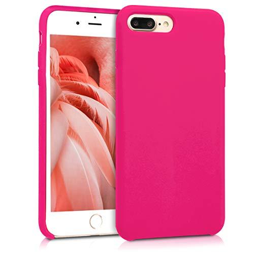 Kwmobile apple iphone 7 plus / 8 plus cover - custodia per apple iphone 7 plus / 8 plus in silicone tpu - back case cellulare rosa shocking