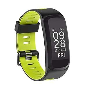 OOLIFENG Bracelet Intelligent Rythme Cardiaque Surveillance de la Pression Sanguine Bande Intelligente Fitness Tracker Bracelet de Sport, Green