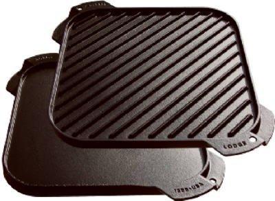 Lodge Beidseitig verwendbare Grillplatte, Gusseisen, behandelt, 25,4 - 1,27 cm 3 - Lodge Cast Iron Grill