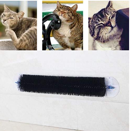 Mascotas Gatos Auto Piel preparación Cepillo masajeador Rascador Acariciar Fila Junta Brusher del Juguete del Gato Brushs pegajosos consumibles del Dispositivo H1
