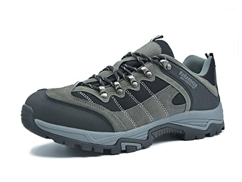 Knixmax Wanderschuhe Wasserdicht Trekking Schuhe Herren Sports Outdoor Gleitsicher Hiking Boots Men Waterproof Trekking-& Wanderhalbschuhe Dämpfung Sneaker, Grau, 44 EU (10 UK) (Wasser Schuhe Herren Boot)