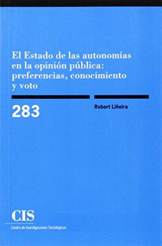 Estado de las autonomías en la opinión pública:preferencias, conocimiento y voto (Monografías)