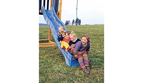 Wellen-Rutsche - GS- und TÜV geprüft - für Kinder - Länge: 250 cm, Farbe: Grün,'Jan' - als Anbaurutsche für Klettergerüst / Holz-Spielturm / Schaukel-Gestell im Outdoor-Bereich in der Länge 290 cm aus hochfesten Kunsstoff