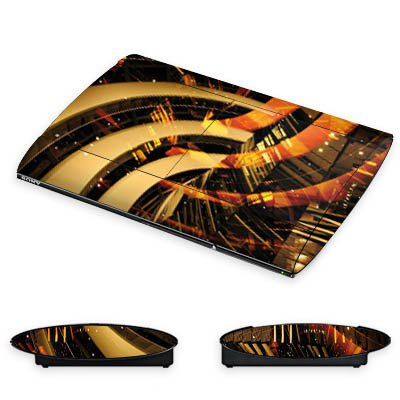 DeinDesign Skin kompatibel mit Sony Playstation 3 Superslim CECH-4000 Aufkleber Folie Sticker Berlin Lichter Kollage Collage -